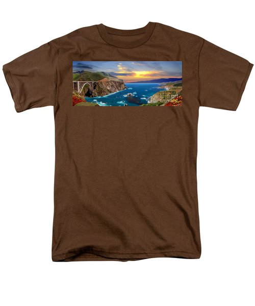 Men's T-Shirt  (Regular Fit) featuring the photograph Bixby Creek Bridge by David Zanzinger