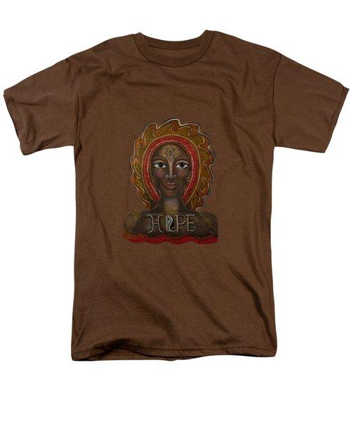 Men's T-Shirt  (Regular Fit) featuring the painting Black Madonna - Hope by Deborha Kerr
