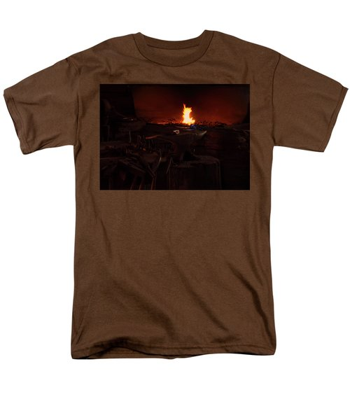 Men's T-Shirt  (Regular Fit) featuring the digital art Blacksmith Shop by Chris Flees
