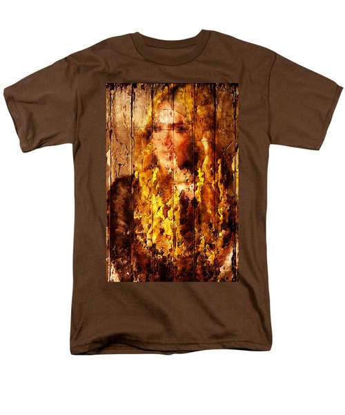 Men's T-Shirt  (Regular Fit) featuring the digital art Blond Wood Inlay by Andrea Barbieri