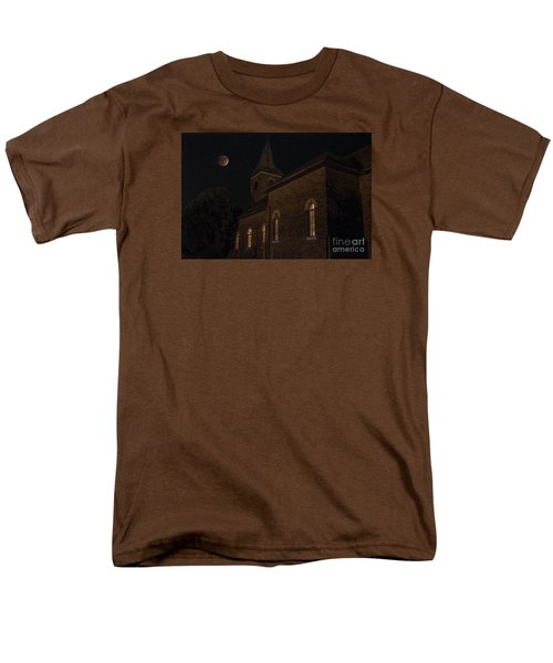 Men's T-Shirt  (Regular Fit) featuring the photograph Blood Moon Over St. Johns Church by Keith Kapple