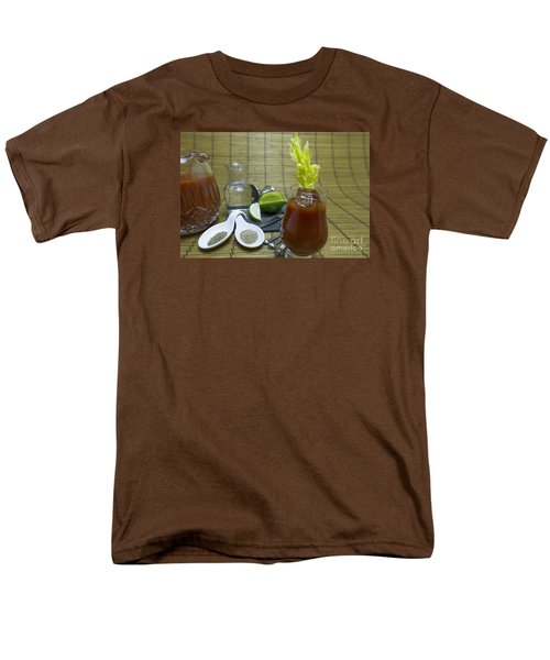 Bloody Mary Cocktail With Ingredients Men's T-Shirt  (Regular Fit) by Karen Foley