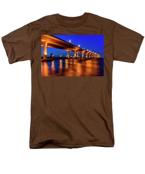 Men's T-Shirt  (Regular Fit) featuring the photograph Blue Hour At Roosevelt Bridge In Stuart Florida  by Justin Kelefas