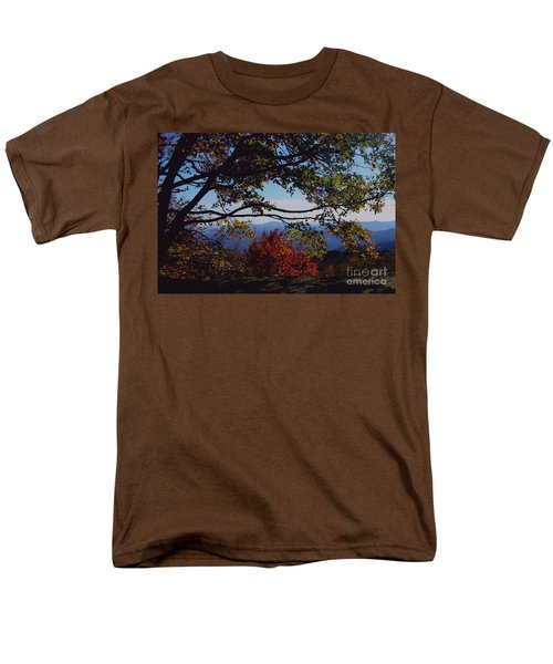 Blue Ridge Mountain View Men's T-Shirt  (Regular Fit) by Debra Crank