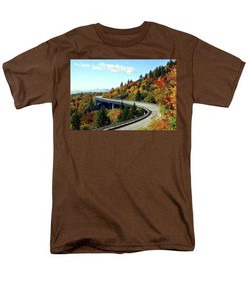 Men's T-Shirt  (Regular Fit) featuring the photograph Blue Ridge Parkway Viaduct by Meta Gatschenberger