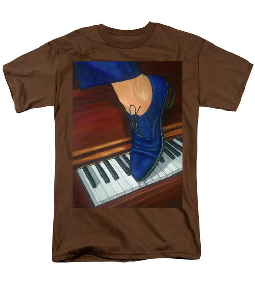 Men's T-Shirt  (Regular Fit) featuring the painting Blue Suede Shoes by Marlyn Boyd