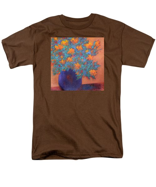 Men's T-Shirt  (Regular Fit) featuring the painting Blue Vase by Nancy Jolley