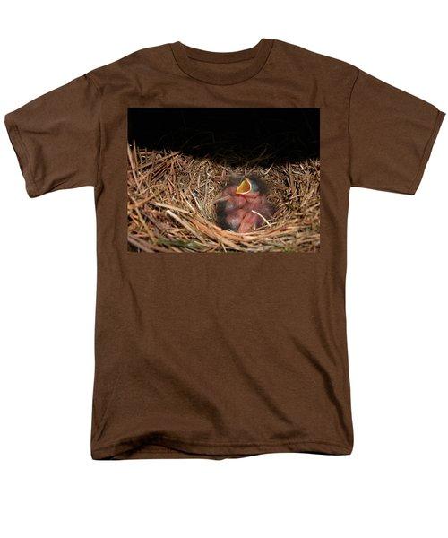 Men's T-Shirt  (Regular Fit) featuring the photograph Bluebird Babies by Marie Hicks