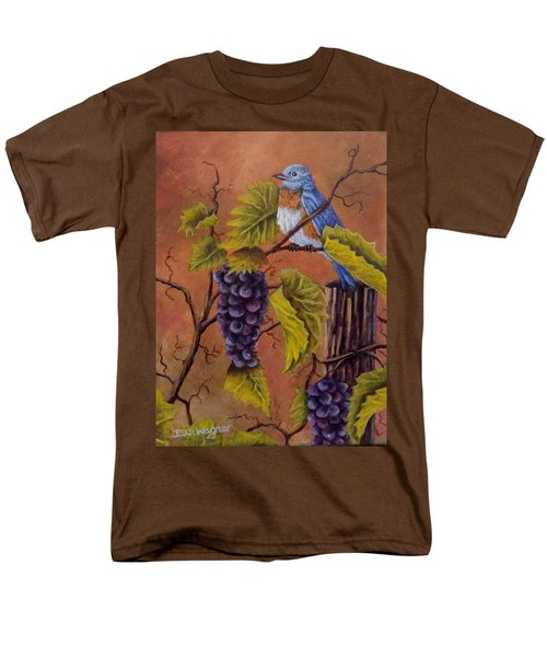 Men's T-Shirt  (Regular Fit) featuring the painting Bluey And The Grape Vine by Dan Wagner