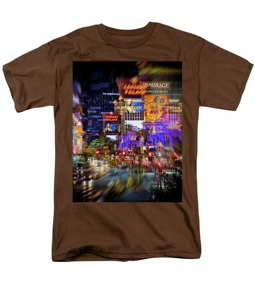 Blurry Vegas Nights Men's T-Shirt  (Regular Fit)