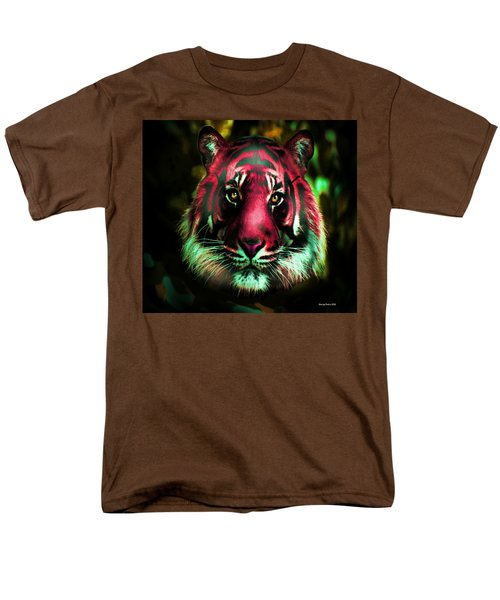 Men's T-Shirt  (Regular Fit) featuring the photograph Blushing Tiger by George Pedro