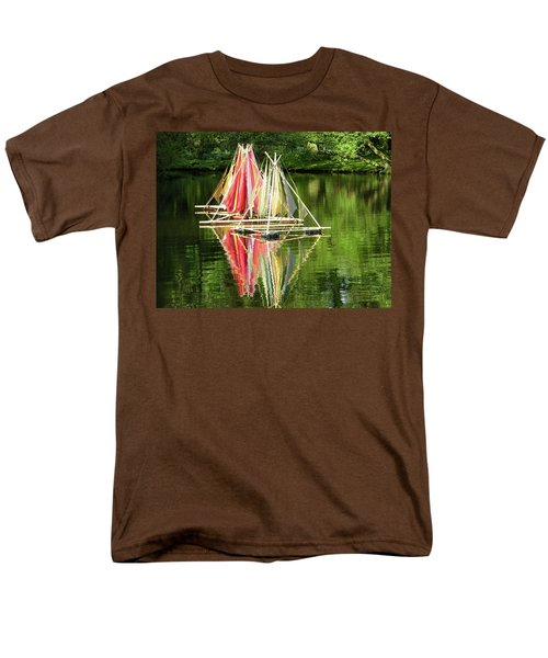 Men's T-Shirt  (Regular Fit) featuring the photograph Boats Landscape by Manuela Constantin