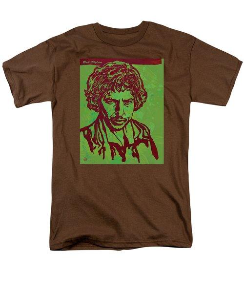 Bob Dylan Pop Art Poser Men's T-Shirt  (Regular Fit) by Kim Wang