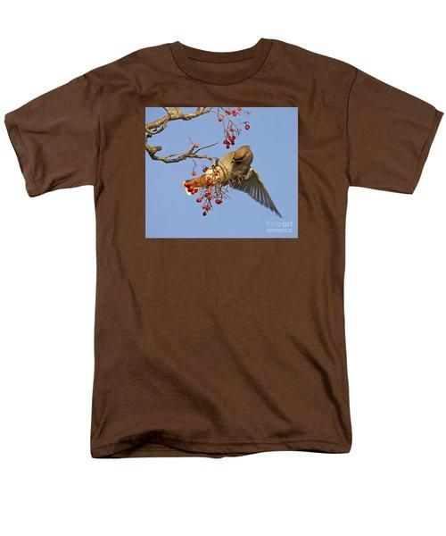 Bohemian Waxwing Men's T-Shirt  (Regular Fit) by Liz Leyden