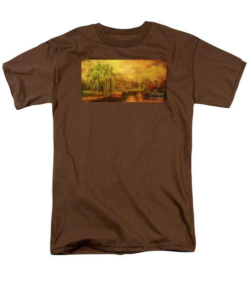 Boston Common In Autumn Men's T-Shirt  (Regular Fit) by Liz Leyden