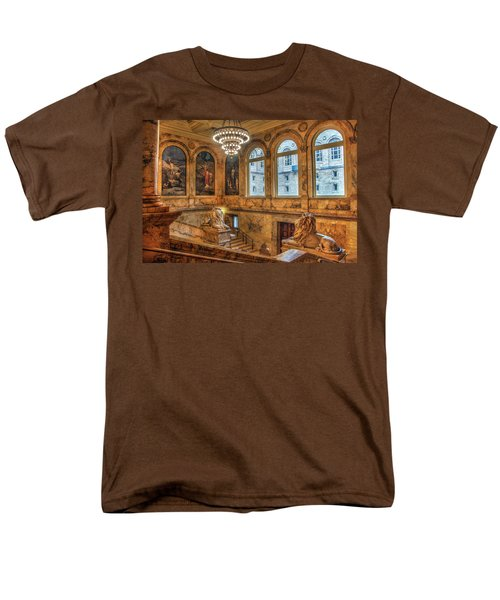 Men's T-Shirt  (Regular Fit) featuring the photograph Boston Public Library Architecture by Joann Vitali
