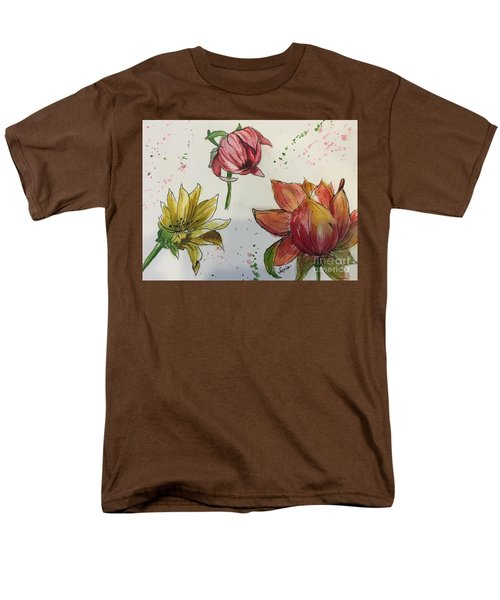 Men's T-Shirt  (Regular Fit) featuring the painting Botanicals by Lucia Grilletto