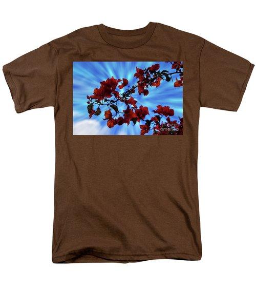 Bougainvillea At Joe's Secret Garden Iv Men's T-Shirt  (Regular Fit) by Al Bourassa
