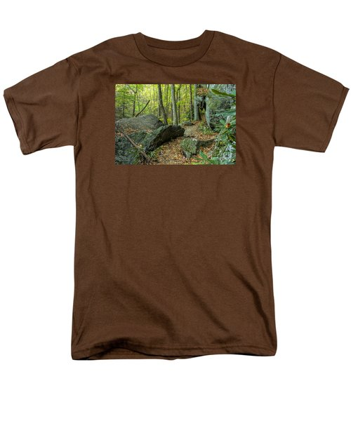 Boulders On The Bear Hair Gap Trail Men's T-Shirt  (Regular Fit) by Barbara Bowen