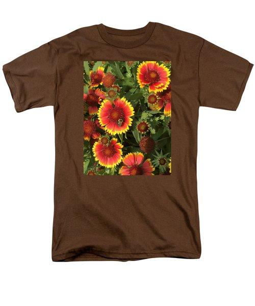 Men's T-Shirt  (Regular Fit) featuring the photograph Bright Daisy-like by Arlene Carmel