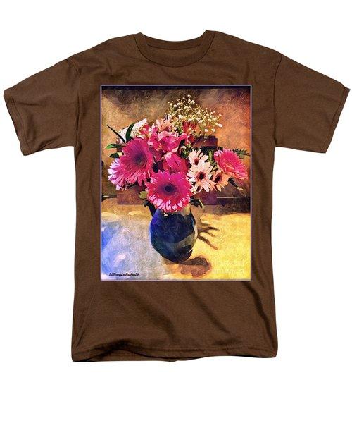 Brithday Wish Bouquet Men's T-Shirt  (Regular Fit) by MaryLee Parker