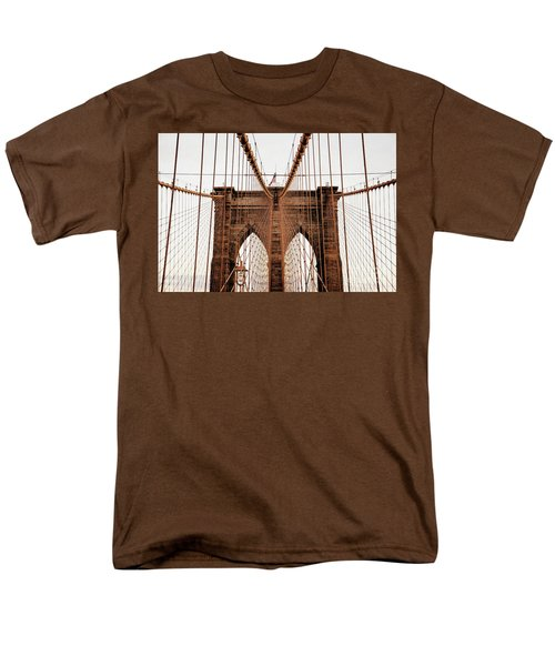 Men's T-Shirt  (Regular Fit) featuring the photograph Brooklyn Bridge by MGL Meiklejohn Graphics Licensing