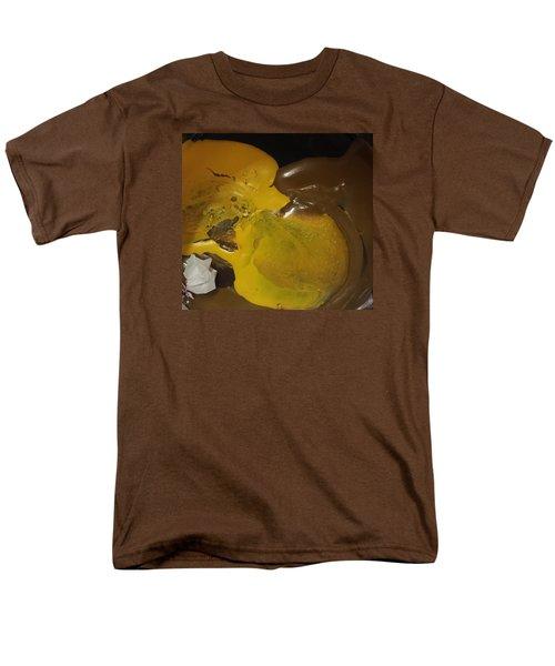 Brown Dolphin Eating A Lemon Men's T-Shirt  (Regular Fit) by Gyula Julian Lovas