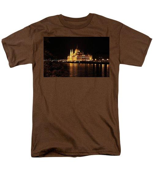 Men's T-Shirt  (Regular Fit) featuring the digital art Budapest - Parliament by Pat Speirs