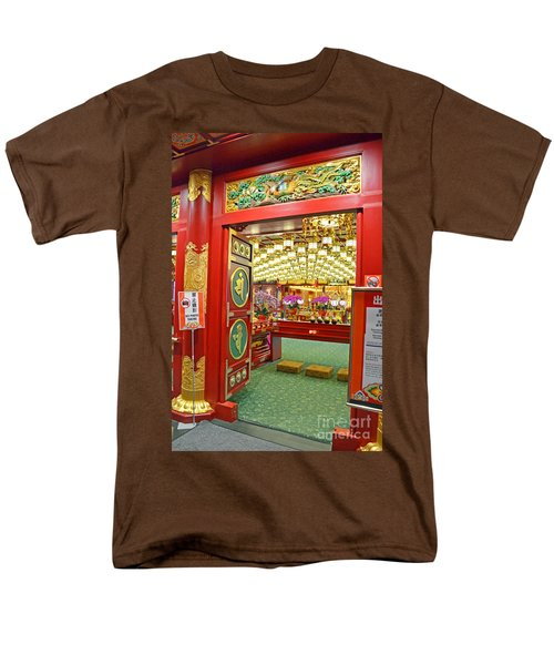 Buddha Tooth Relic Temple And Museum Men's T-Shirt  (Regular Fit) by Eva Kaufman