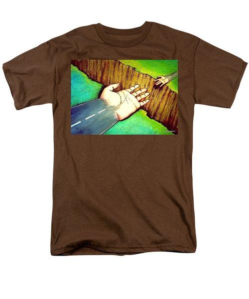 Building Bridges Men's T-Shirt  (Regular Fit) by Paulo Zerbato