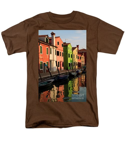 Men's T-Shirt  (Regular Fit) featuring the photograph Burano Reflections by Dennis Hedberg
