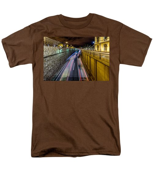 Busy Night In Barcelona Men's T-Shirt  (Regular Fit) by Randy Scherkenbach