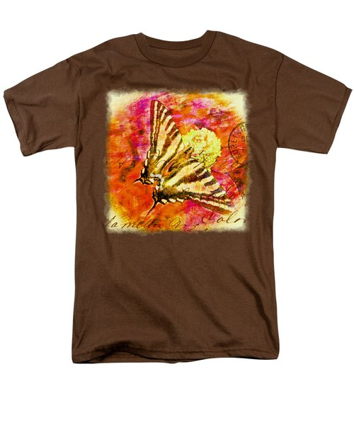 Butterfly T - Shirt Print Men's T-Shirt  (Regular Fit) by Debbie Portwood