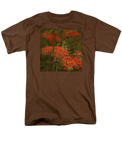 Butterfly Weed Asclepias Tuberosa Men's T-Shirt  (Regular Fit) by Bellesouth Studio