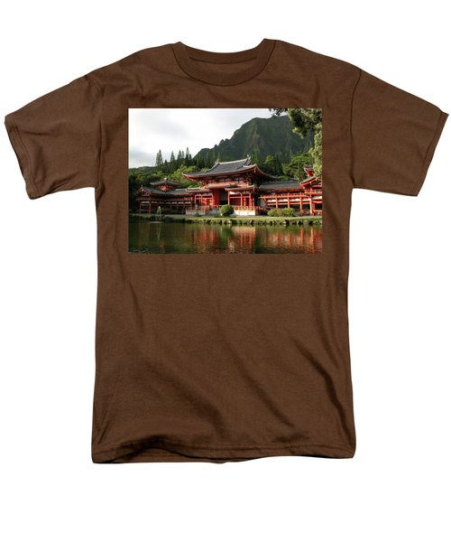 Men's T-Shirt  (Regular Fit) featuring the photograph Byodo-in Temple, Oahu, Hawaii by Mark Czerniec