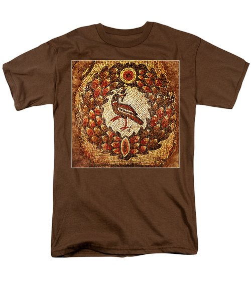 Men's T-Shirt  (Regular Fit) featuring the digital art Byzantine Bird by Asok Mukhopadhyay