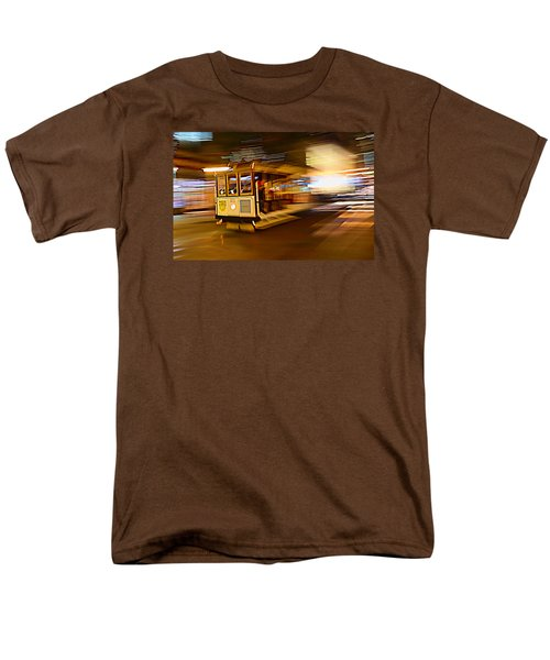 Cable Car At Light Speed Men's T-Shirt  (Regular Fit) by Steve Siri