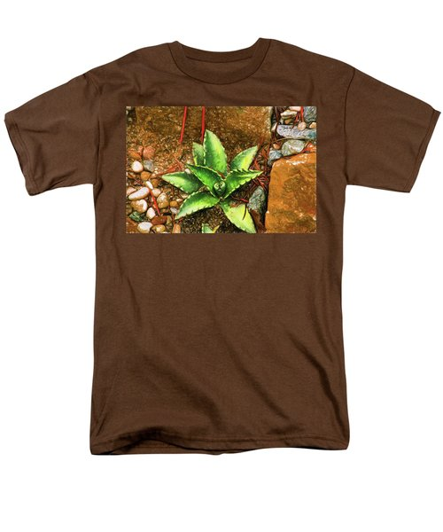 Men's T-Shirt  (Regular Fit) featuring the digital art Cacti Moods In Technicolor by Terry Cork