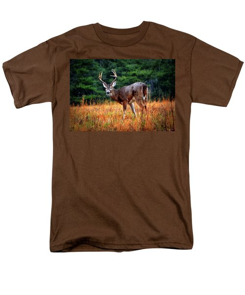 Cades Cove - The Buck Stopped Here 002 Men's T-Shirt  (Regular Fit) by George Bostian