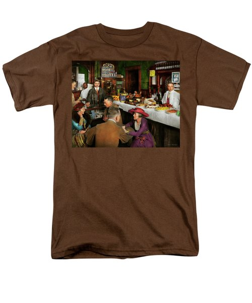 Cafe - Temptations 1915 Men's T-Shirt  (Regular Fit) by Mike Savad