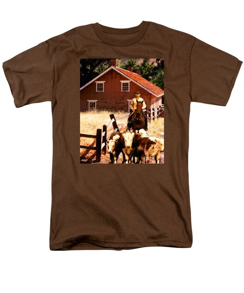 Men's T-Shirt  (Regular Fit) featuring the photograph Calves by Timothy Bulone