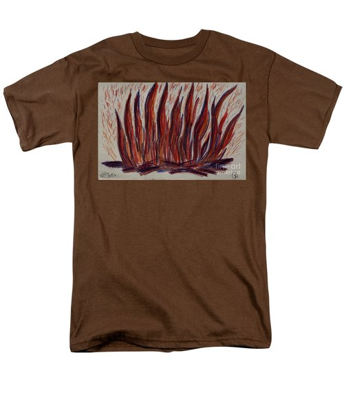 Campfire Flames Men's T-Shirt  (Regular Fit) by Theresa Willingham