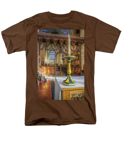 Men's T-Shirt  (Regular Fit) featuring the photograph Candle Of  Prayer by Ian Mitchell