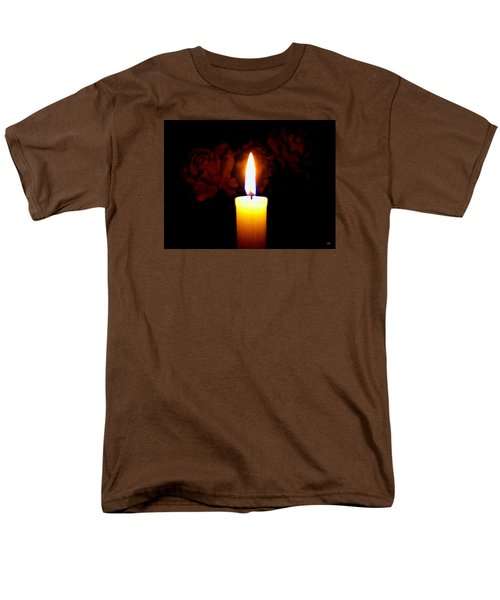 Candlelight And Roses Men's T-Shirt  (Regular Fit)