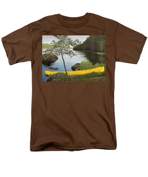 Canoe On The Bay Men's T-Shirt  (Regular Fit) by Kenneth M  Kirsch