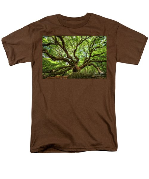 Canopy Of Color At Angel Oak Tree  Men's T-Shirt  (Regular Fit) by Michael Ver Sprill