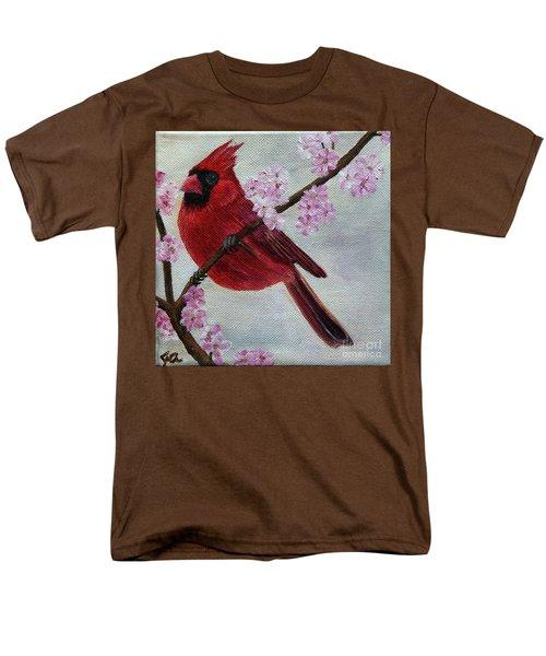Cardinal In Cherry Blossoms Men's T-Shirt  (Regular Fit) by Jane Axman