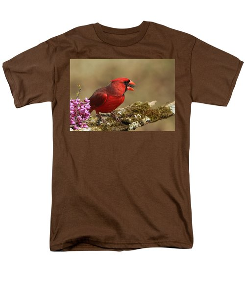 Cardinal In Spring Men's T-Shirt  (Regular Fit) by Sheila Brown