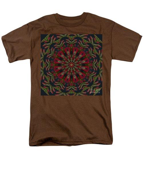 Cardinal Kaleidoscope Men's T-Shirt  (Regular Fit) by Judy Wolinsky