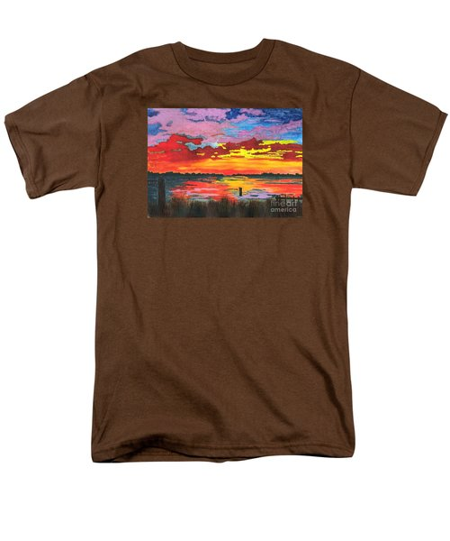 Men's T-Shirt  (Regular Fit) featuring the painting Carolina Sunset by Patricia Griffin Brett